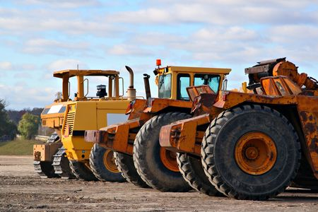 earth moving equipments in construction side Stock Photo - 2047525
