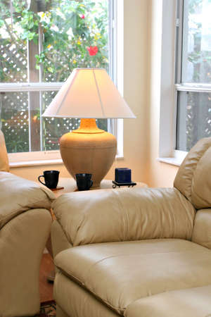 Table Lamp by the Window Stock Photo - 2349676