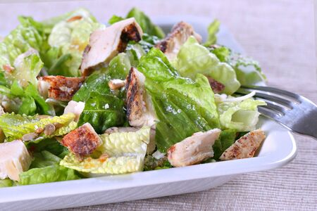 barbeque chichen salad with cheese Imagens