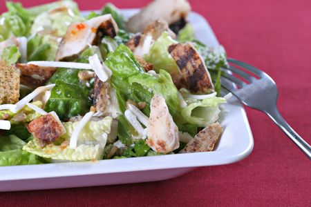 barbecue chicken salad with cheese