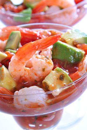 Cocktail Shrimp with Avocado Salsa Sauce photo