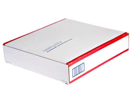 mailing: Emplty Mailing Box On Isolated Background Stock Photo