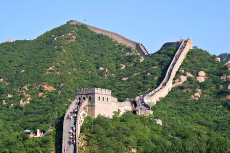 Summer Tourist-spot at Great Wall of China Outside Beijing Banque d'images