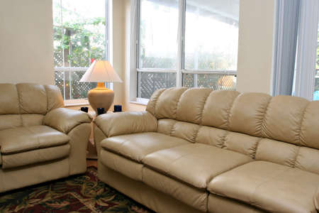 Living Room Corner with Sofa Set Imagens