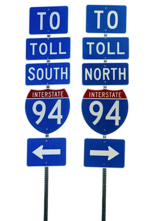 Interstate 94 Road Sign Isolated Stock Photo - 2774758