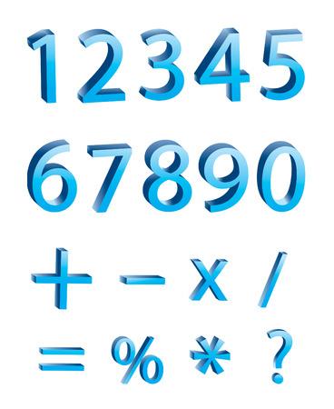 multiply: d�gitos num�ricos 3D