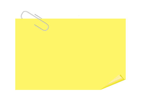 Paper Clip and Yellow Paper Note Vector