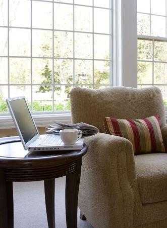 comfy: sun room corner interior