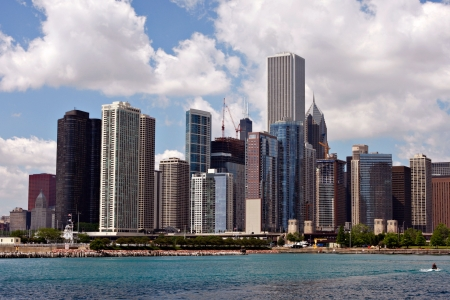 Chicago Downtown Skyline (North Side of the City) Imagens