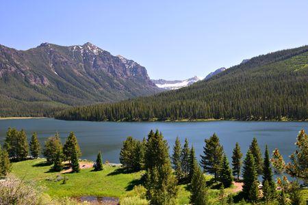 Highlite Lake at Gallatin National Forest, Bozeman, Montana, USA Stock Photo - 3339845