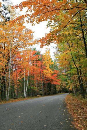 Colorful Autumn Scenic Road Stock Photo - 3698300