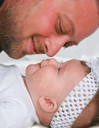 Father and Daughter Closeup Portrait Stock Photo - 5782603