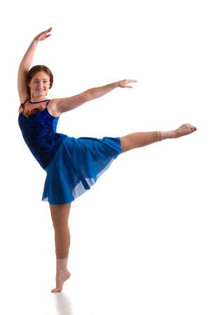 Female Dancer Studio Photo Isolated on White Bakcground Stock Photo - 10531285