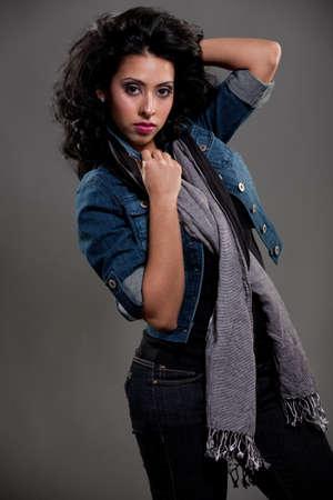 Fashion Spanish Female Model Standing photo