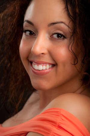Smiling Plus Size Model Headshot Portrait photo