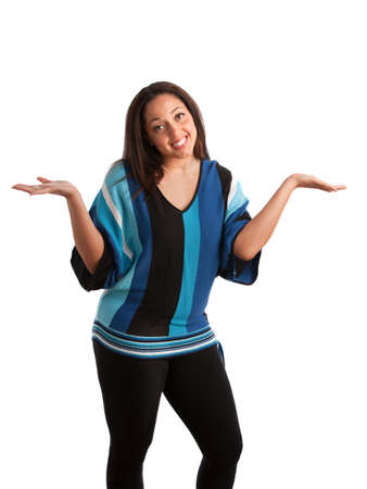 Young Plus Size Female Model Gesture on Isolated Background Stock Photo - 10531550