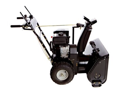 Snow Thrower Isolated on White Background photo