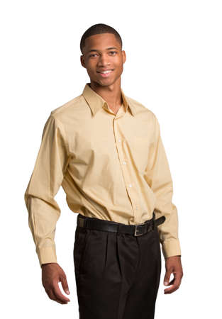 Young Black Business Man Portrait, Smiling Isolated on White Background Stock Photo - 14745752