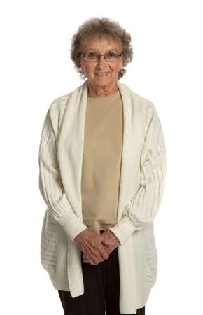 80 year old: 80 Year Old Elderly Senior Happy Portrait Isolated on White Background