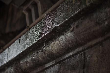 boke: urban tube dark rain water freeze boke