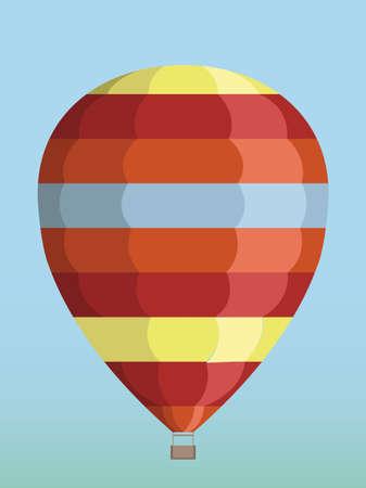 meet: a balloon flies in the sky to meet new adventures