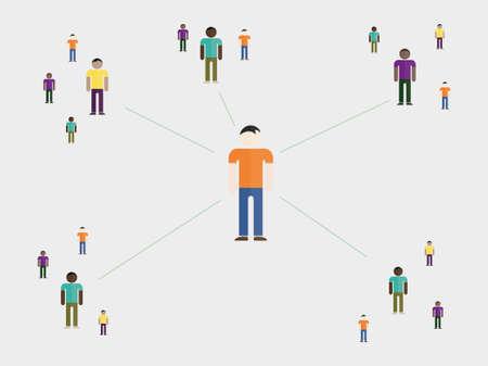 societies: vector illustration showing social affection