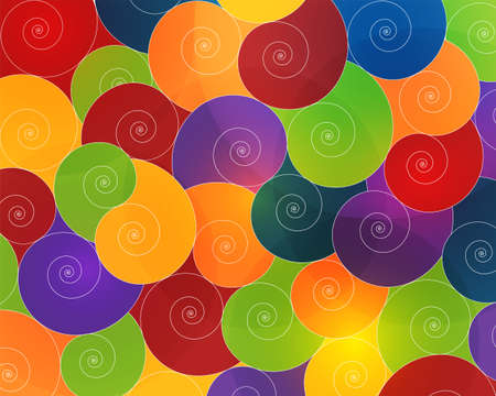 background of spirals and circles transparent