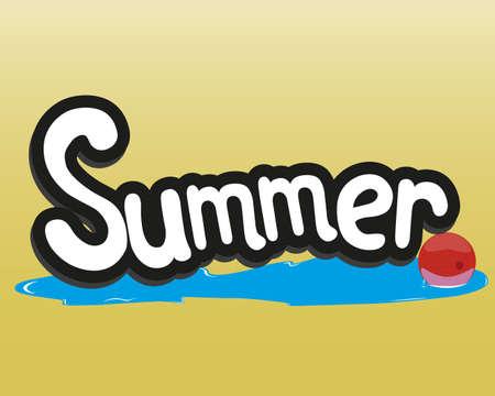 Sommer kommt, die Zeit am Strand zu entspannen