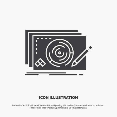 Level, design, new, complete, game Icon. glyph vector gray symbol for UI and UX, website or mobile application