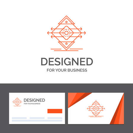 Business logo template for Traffic, Lane, road, sign, safety. Orange Visiting Cards with Brand logo template