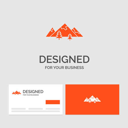 forest, camping, jungle, tree, pines Purple Business Logo Template. Place for Tagline.