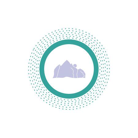 hill, landscape, nature, mountain, scene Glyph Icon. Vector isolated illustration