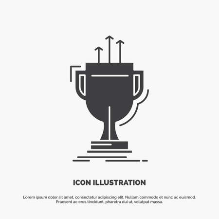 award, competitive, cup, edge, prize Icon. glyph vector gray symbol for UI and UX, website or mobile application