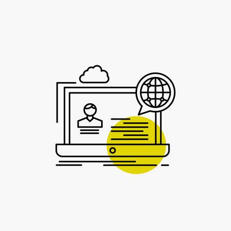 webinar, forum, online, seminar, website Line Icon