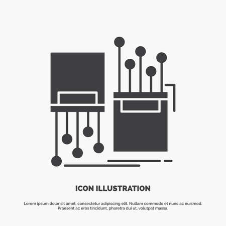 digital, fiber, electronic, lane, cable Icon. glyph vector gray symbol for UI and UX, website or mobile application