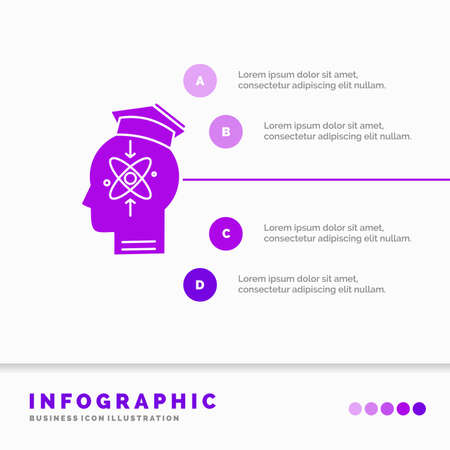 capability, head, human, knowledge, skill Infographics Template for Website and Presentation. GLyph Purple icon infographic style vector illustration.