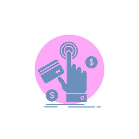 ppc, Click, pay, payment, web Glyph Icon. Illusztráció