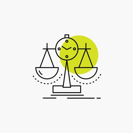 Balanced, management, measure, scorecard, strategy Line Icon