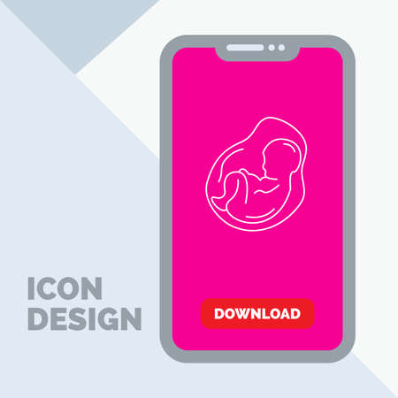 Baby, pregnancy, pregnant, obstetrics, fetus Line Icon in Mobile for Download Page