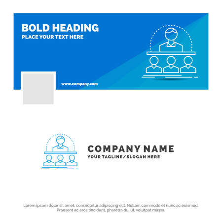 Blue Business Template for Business, coach, course, instructor, mentor. Facebook Timeline Banner Design. vector web banner background illustration Ilustração