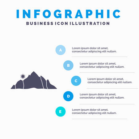 hill, landscape, nature, mountain, scene Infographics Template for Website and Presentation. GLyph Gray icon with Blue infographic style vector illustration.
