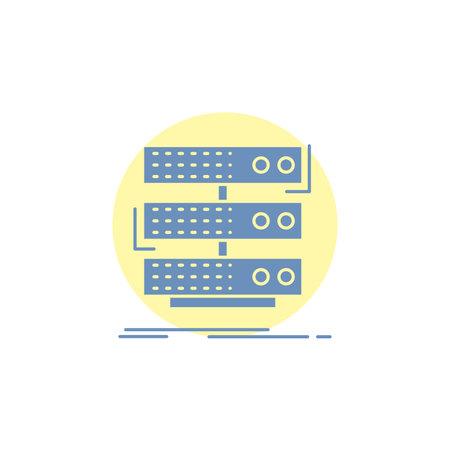 server, storage, rack, database, data Glyph Icon.