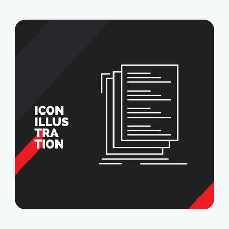 Red and Black Creative presentation Background for Code, coding, compile, files, list Line Icon