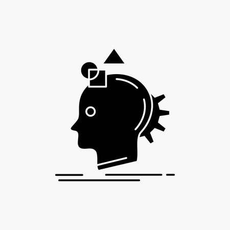 Imagination, imaginative, imagine, idea, process Glyph Icon. Vector isolated illustration