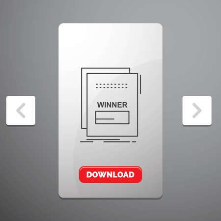 fraud, link, maleficient, malicious, script Line Icon in Carousal Pagination Slider Design & Red Download Button