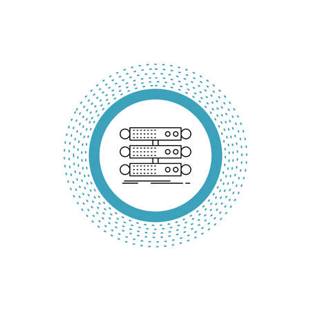 server, structure, rack, database, data Line Icon. Vector isolated illustration