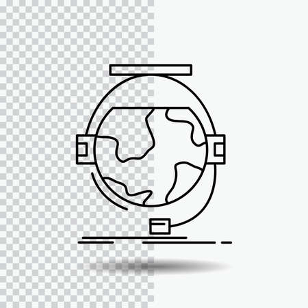 consultation, education, online, e learning, support Line Icon on Transparent Background. Black Icon Vector Illustration Ilustração