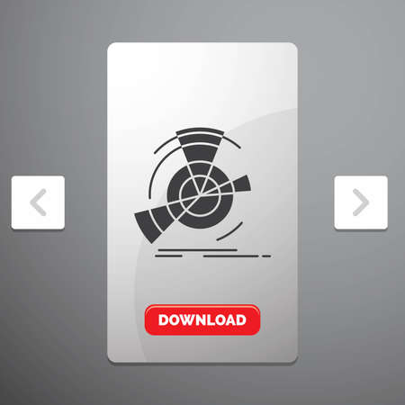 Data, diagram, performance, point, reference Glyph Icon in Carousal Pagination Slider Design & Red Download Button