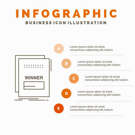 fraud, link, maleficient, malicious, script Infographics Template for Website and Presentation. Line Gray icon with Orange infographic style vector illustration