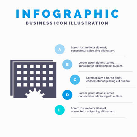 Event, management, processing, schedule, timing Infographics Template for Website and Presentation. GLyph Gray icon with Blue infographic style vector illustration.